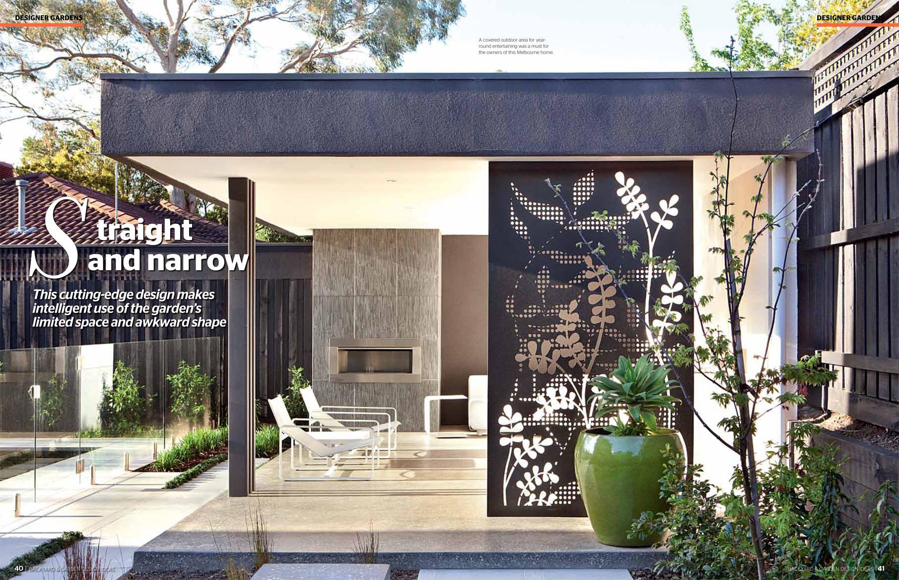 Ian barker gardens featuring in backyard garden design ideas for Patio landscape plans