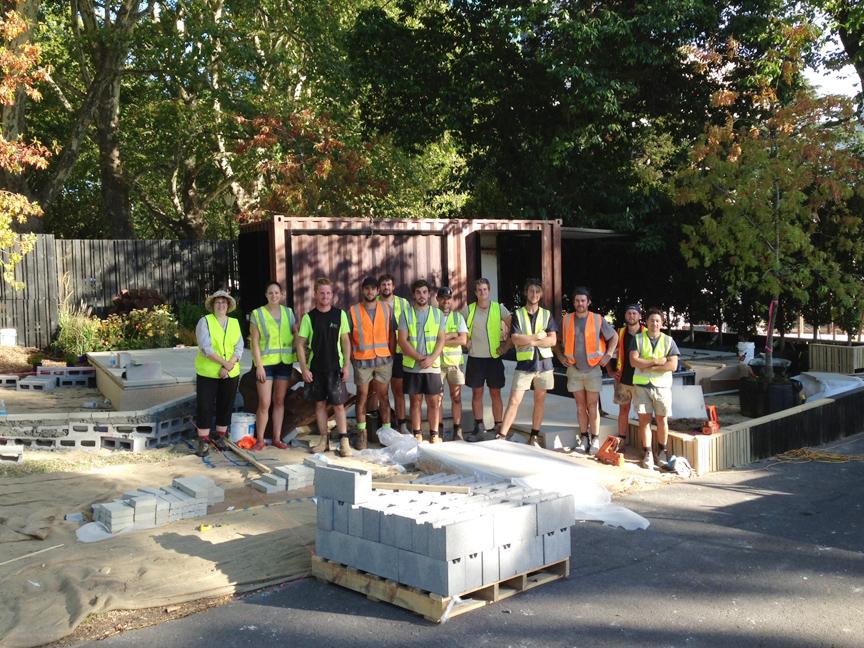 Mifgs construction update 5 days to go ian barker for Landscape contractors melbourne