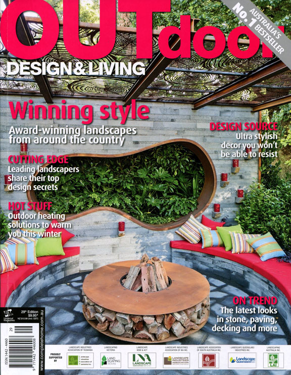 Ian Barker Gardens in Outdoor Design Living Magazine Issue 29