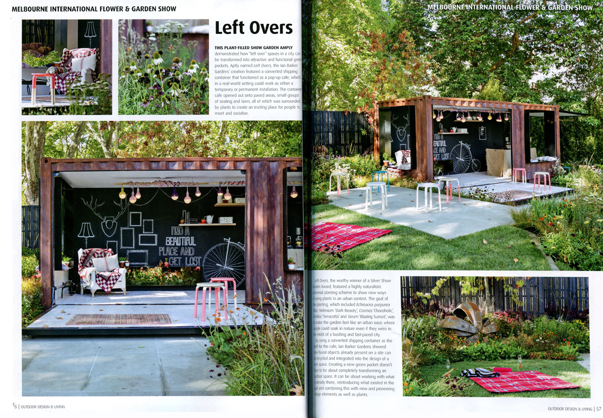 Ian barker gardens in outdoor design living magazine for Outdoor living magazine