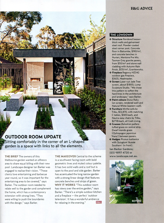 Beautiful Outdoor Rooms Profile On The Surrey Hills Project By Melbourne Garden  Design Company Ian Barker Gardens