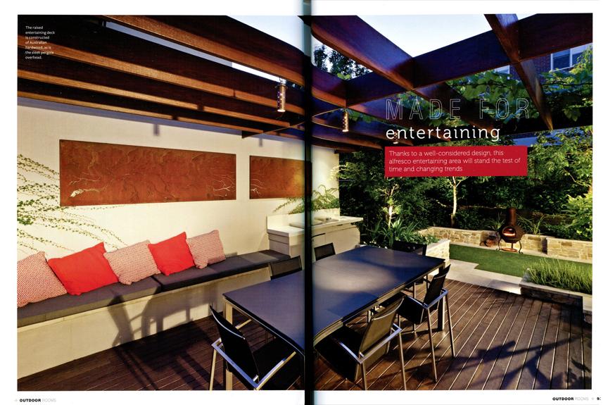 Outdoor rooms magazine ian barker gardens landscapers for Garten design magazin