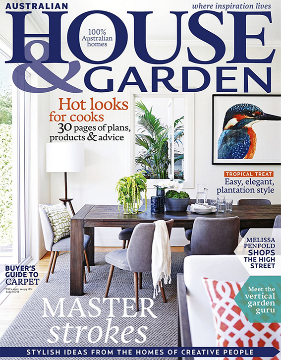 cover of the march issue of australian house garden which features an article on the - House And Garden Magzine