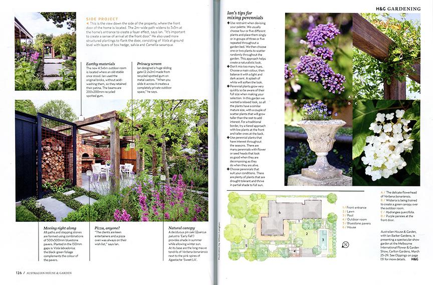Ian Barker Garden Designu0027s Box Hill Garden Features Mixed Perennials In  Blush Tones Which Compliment The