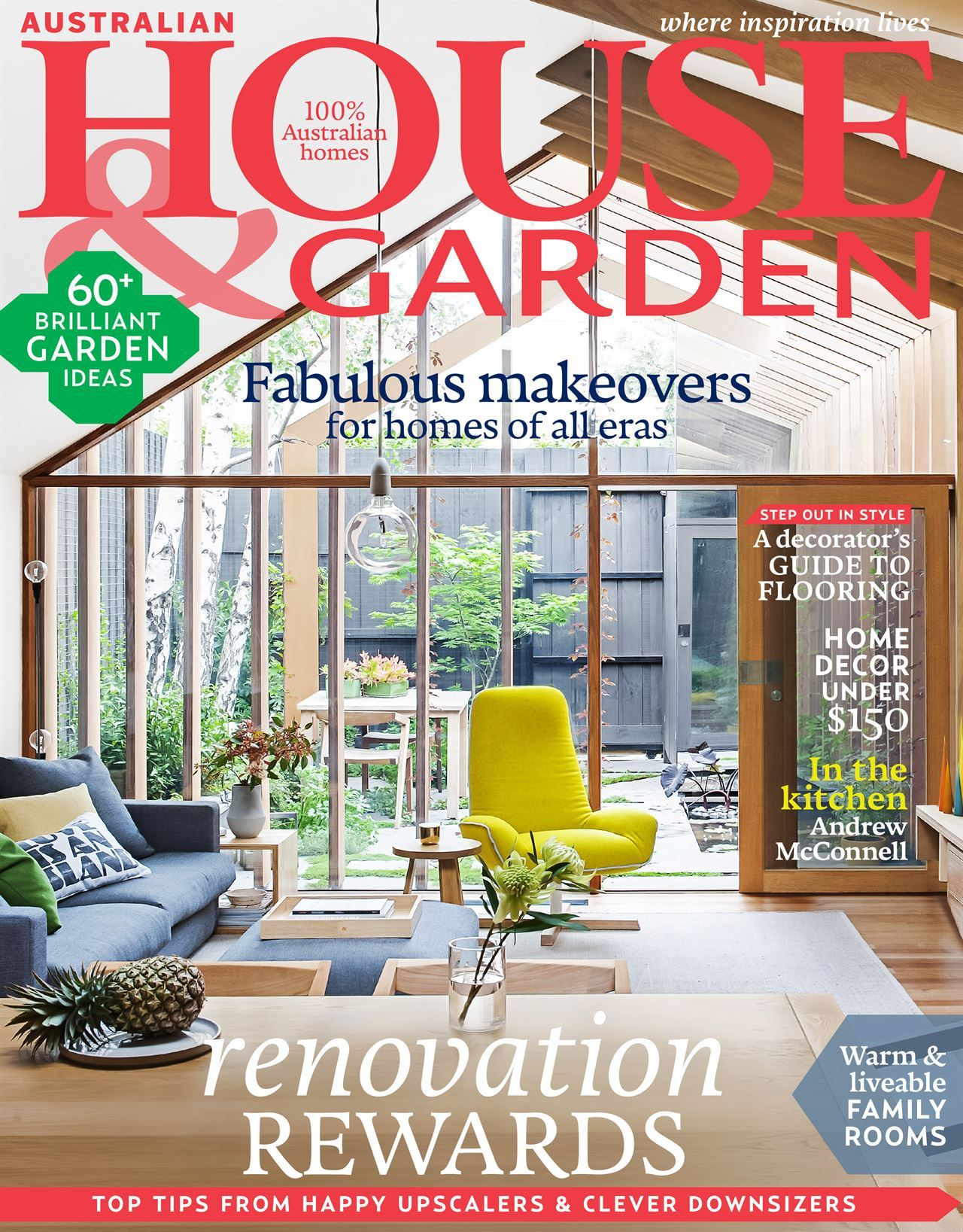 the april 2015 cover of australian house garden magazine which features ian barker gardens - House And Garden Magzine