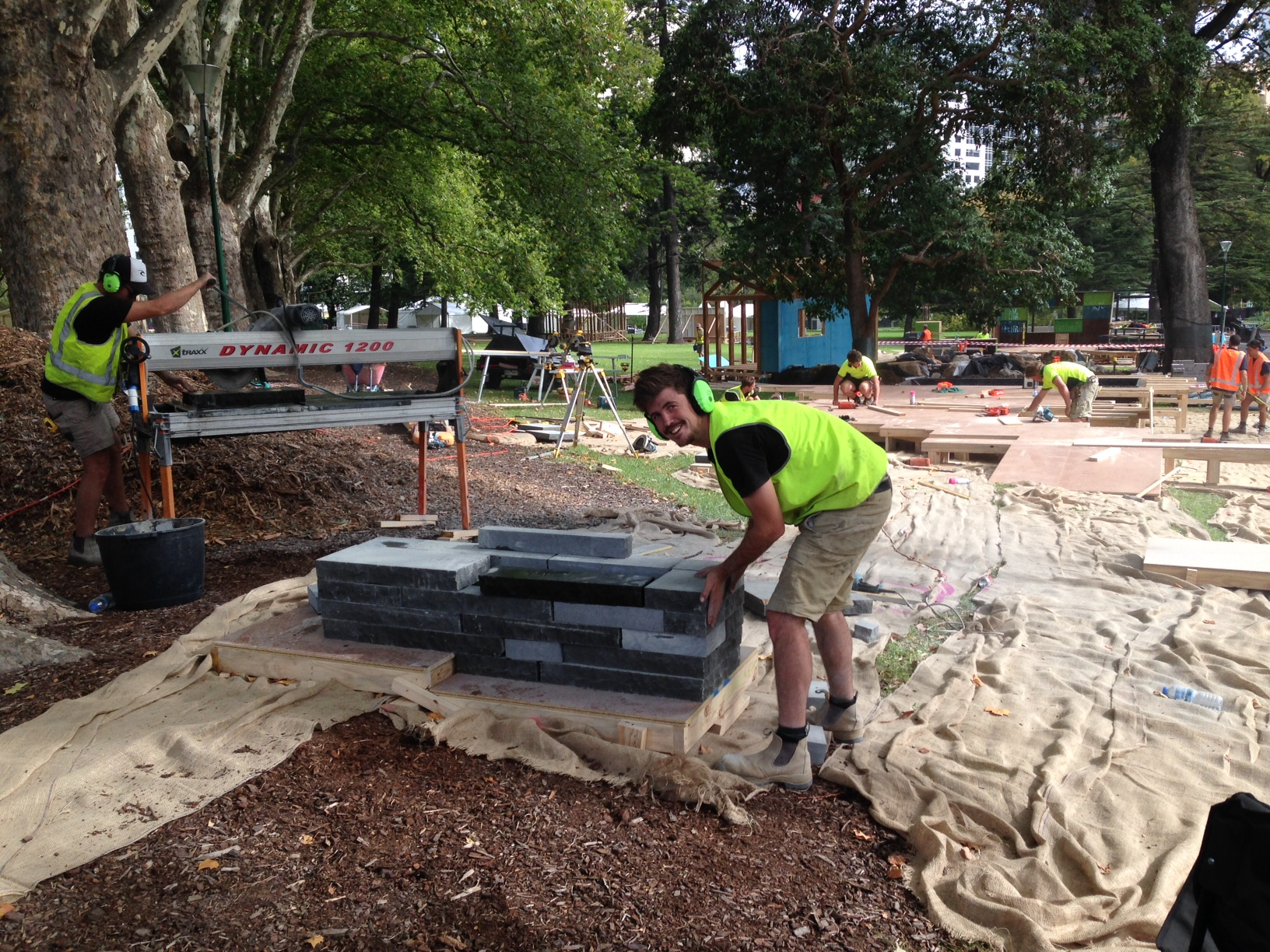 Mifgs update construction day 1 ian barker gardens for Space landscape construction adelaide