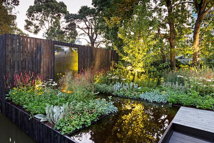 Ian Barker Gardens_Melbourne International Flower & Garden Show 2016_Patrick Redmond Photography_Black Mirror Water Feature and Pond