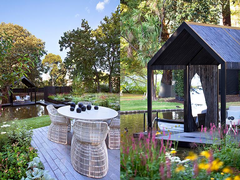 Ian Barker Gardens_Melbourne International Flower & Garden Show 2016_Sally Plottel Photography_Outdoor Furniture & Boathouse